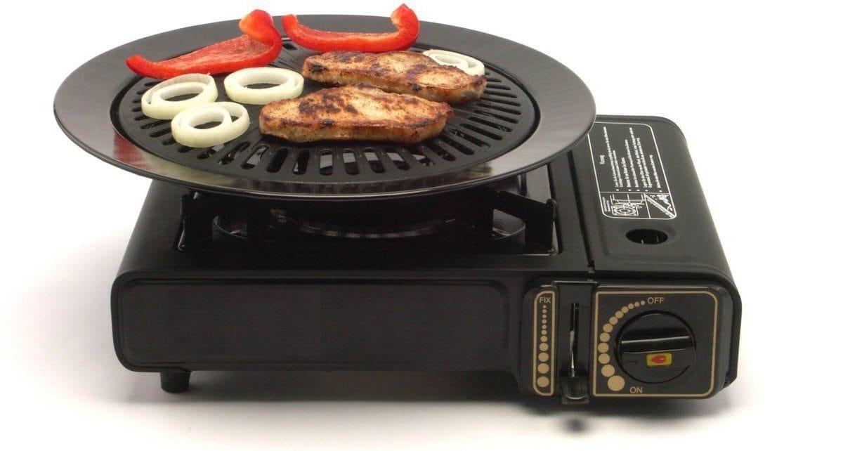 Grillplatte Koffer Gas Tragetasche Campingkocher Outdoor Gaskocher BBQ