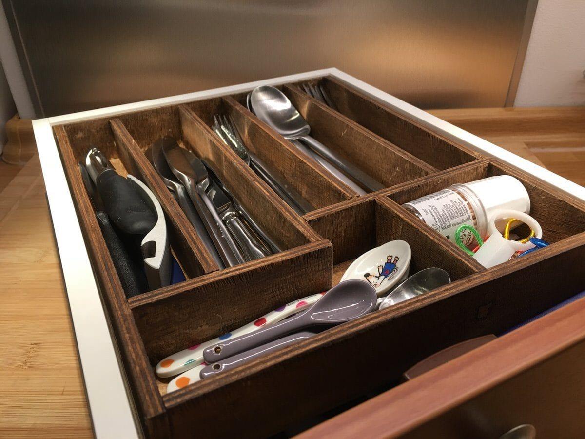besteckkasten mit magnetischem zwischenboden selber bauen camping family. Black Bedroom Furniture Sets. Home Design Ideas